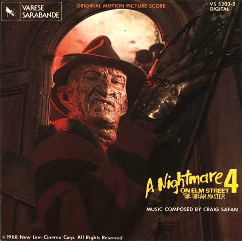 A Nightmare On Elm Street 4 - Score - Cover