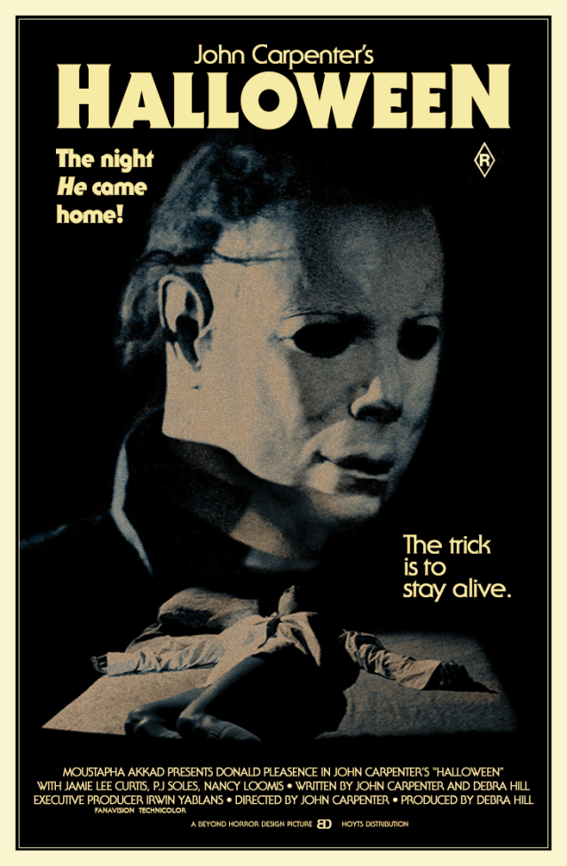 HALLOWEEN 1978 poster v3 by Beyond Horror Design