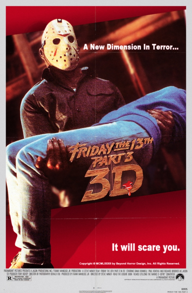 Beyonds FRIDAY THE 13TH PART 3 IN 3D POSTER